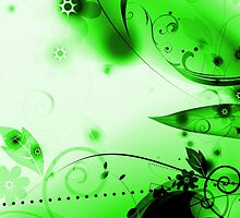 Green Vector Flourishes by bradyarnold