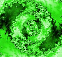 Abstract Green Radial Pattern by bradyarnold
