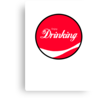 Enjoy Drinking Canvas Print