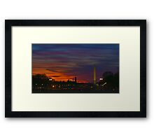 Washington, DC Mall at night Framed Print
