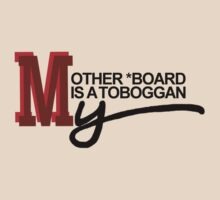My Other 'Board Is A Toboggan - red/black by aint-no-zombie