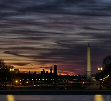 Washington, DC Mall at night HDR by mkurec