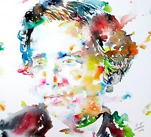 LEWIS CARROLL - watercolor portrait by lautir