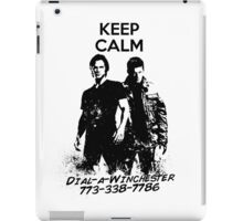 Keep Calm Dial-a-Winchester iPad Case/Skin