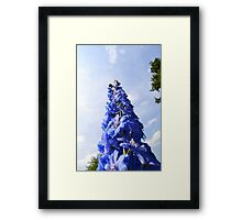 Blue Flower Tower Framed Print