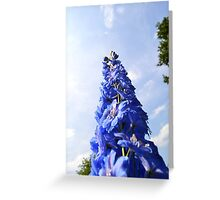 Blue Flower Tower Greeting Card