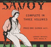Design for the front cover of 'The Savoy: Complete in Three Volumes' by Bridgeman Art Library