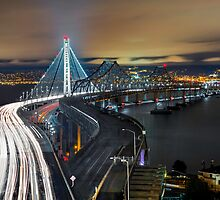 San Francisco-Oakland Bay Bridge by Jerome Obille