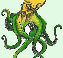 Confucius Octopus by Octopusiscool