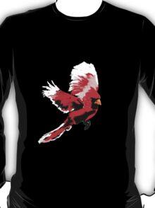 Painted Cardinal Design T-Shirt