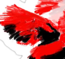 Painted Cardinal Design Sticker