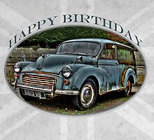 Morris Minor Traveller - Happy Birthday by Karosh
