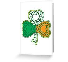 Shamrock and Heart Design Greeting Card