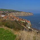 Nice Day at Robin Hood's Bay by Kat Simmons