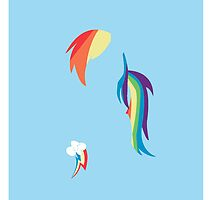 Rainbow Dash iPhone Case by Reddmatter