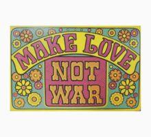 Make Love Not War Kids Clothes