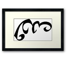 Mortal Instruments - Voice of the Wind Rune Framed Print