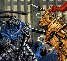 Dark Souls: Artorias vs Ornstein card by MenasLG
