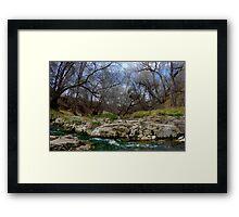 San Vicente Creek Framed Print