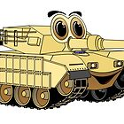 Military Tank Cartoon by Graphxpro