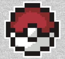 8-Bit PokeBall -Classic Throwback T-Shirt by cal5086