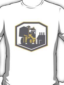 Forklift Truck Materials Handling Logistics Retro T-Shirt