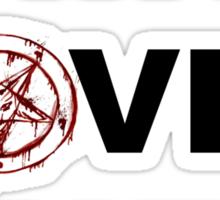 Satan loves me Sticker