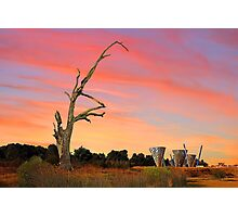 Sunset At Water Dance Sculptures Photographic Print
