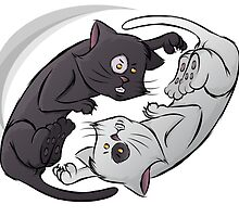 Yin Yang Cat by graphicgeoff