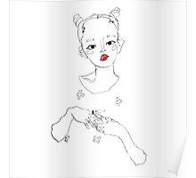 Floating figure; digital illustration 2 Poster