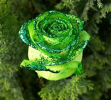 "The Green Glittery Rose ""Beauty of Nature"" by mhykel"