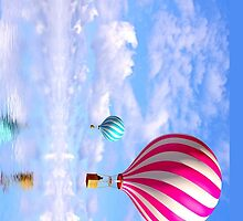 "Hot Air Balloon ""Ocean View"" by mhykel"