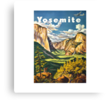 Yosemite Travel Canvas Print