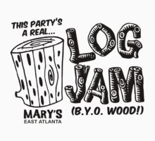 LOG JAM (black ink) by bendito