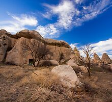 Stone Huts: Hiking in Cappadocia, Turkey by thewaxmuseum