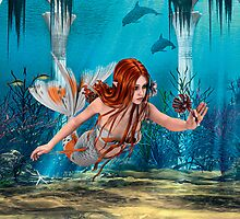 Mermaid holding Sea Lily by Vac1