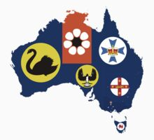 Flag Map of States and Territories of Australia  by abbeyz71