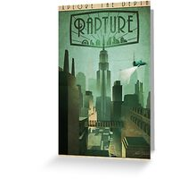 Rapture Art-Deco Travel Poster Greeting Card