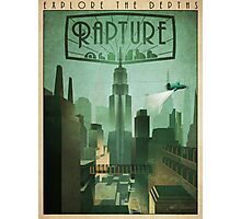 Rapture Art-Deco Travel Poster Photographic Print