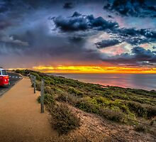Surfer Sunrise, Bells Beach by Russell Charters