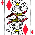 Bizarre Bunny Diamonds Playing Card by BizarreBunny