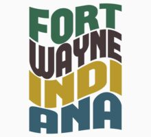 Fort Wayne Indiana Retro Wave by Location Tees