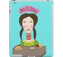 Girl with coffee and cupcake iPad Case/Skin