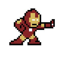 8-Bit Iron Man by JoshTull15