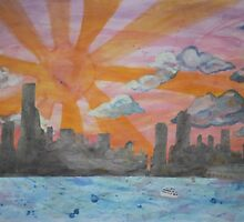 CHICAGO SKYLINE by pulmonaryfern