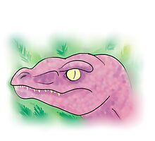 Purple Dinosaur by BrittanyPurcell