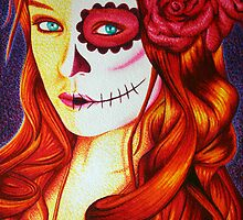 Scarlet Day of The Dead by JMCSharpieArt