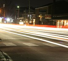Fast Moving Car Trails by SDSPhotography
