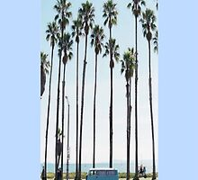 Bus and Palm Trees Phone Case by Amputrus