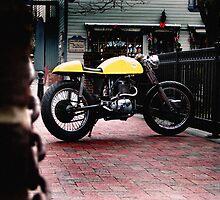 Cafe Racer on the Bridge by Kyle Yarrington